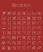 Set of business simple icons — Stock Vector