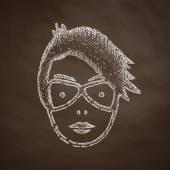 Face girl icon — Stock Vector