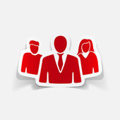 Business people icon — Stock Vector