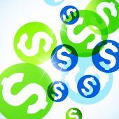 Resumen antecedentes con dinero — Vector de stock