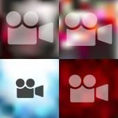 Blurred video icon — Stock Vector