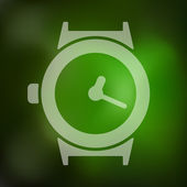 Blurred watch icon — Stock Vector