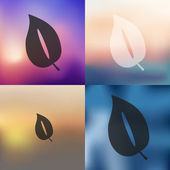 Blurred leaf icon — Stock Vector