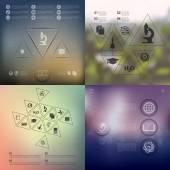 Vzdělávání infographic prvky — Stock vektor