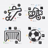 Football infographic elements — Stock Vector