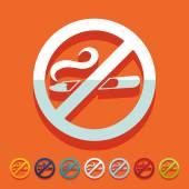 Flat design: no smoking — Stock Vector