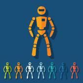 Flat design: robot — Stock Vector