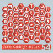 Set of building icons — Stock Vector