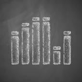 Equalizer icon on chalkboard — Stock vektor