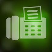 Blurred fax icon — Stock Vector