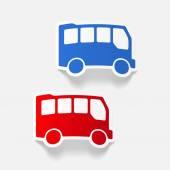Realistic design element: bus — Stockvector