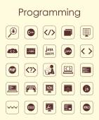 Set of programming simple icons — Stock Vector
