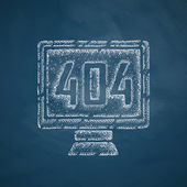 404 error program error icon — Stock Vector