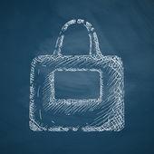 Bag icon on chalkboard — Stockvektor