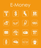Set of e-money simple icons — Stock Vector