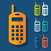 Old mobile phone icon — Stok Vektör