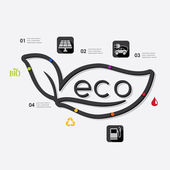 Ecology infographic elements — Stock Vector