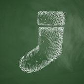Christmas sock icon — Stock Vector
