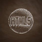 HTML5 icon on chalkboard — Stock Vector