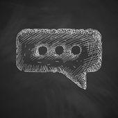 Bubble icon on chalkboard — Stock Vector