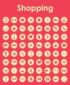 Set of shopping simple icons — Vettoriale Stock