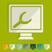 Flat design, computer service — Stock Vector