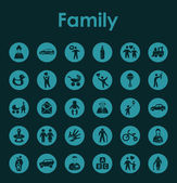 Set of family simple icons — Stock Vector