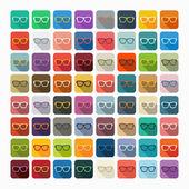 Flat design: glasses — Stock Vector