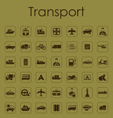 Set of transport simple icons — Stock Vector
