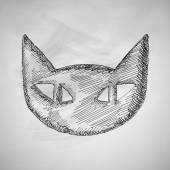 Cat icon on chalkboard — Stock Vector