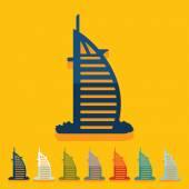 Dubai building icon — Stock Vector
