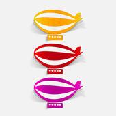 Realistic design element: airship — Stock Vector