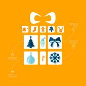 Christmas flat infographic — Stock Vector