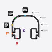 游戏的信息图表图标 — 图库矢量图片