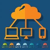 Flat design, cloud technology — Stock Vector