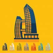 Flat design, singapore building — Stock Vector