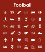 Set of football simple icons — Stock Vector