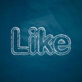 Like icon on chalkboard — Stock Vector