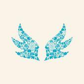 Wing shaped icon — 图库矢量图片