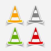 Road cones icon — Stock Vector