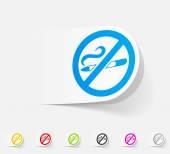 No smoking icon — Stock Vector