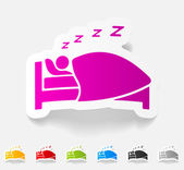 Realistic design element, sleep — Stock Vector