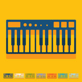 Flat design: synthesizer — Stock Vector
