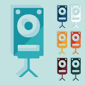 Large audio speaker — Stock Vector