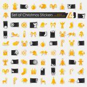 圣诞贴纸一套 — 图库矢量图片