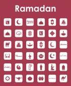 Set of ramadan simple icons — Stock Vector