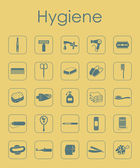 Set of hygiene simple icons — Stock Vector