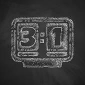 Scoreboard icon on chalkboard — Vecteur