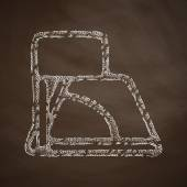 Angle icon on chalkboard — Stock Vector