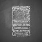Book icon on chalkboard — Stockvector